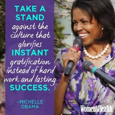 Michelle Obama, Inspirational Quote. #Inspiration #Encouragement More