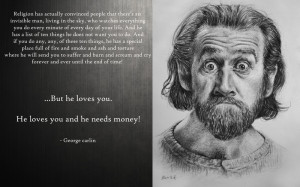 text humor quotes god religion atheism george carlin christian ...