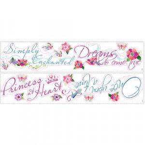 RoomMates Disney Princess - Princess Quotes Peel & Stick Wall Decal ...
