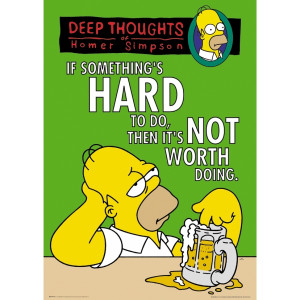 The Simpsons Deep Thoughts Maxi Poster