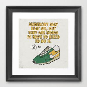Steve Prefontaine Bleed Quote - Nike Framed Art Print