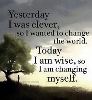 need to change myself