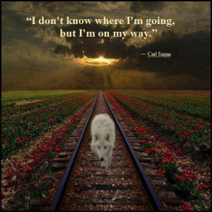 don't know where I'm going but I'm on my way.