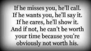 You're not worth his