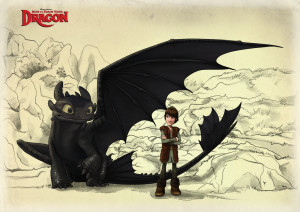 Toothless and Hiccup_FIN by Fenchan