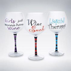 ... sayings on decorative wine glasses have fun more wine glass 110 10