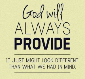 God will always provide. #quotes