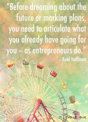 Before dreaming about the future or marking plans, you need to ...