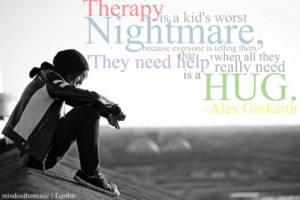 mindonthemusic:br br Therapy quote Alex Gaskarth photo 1