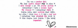 Girly Imperfection Quote