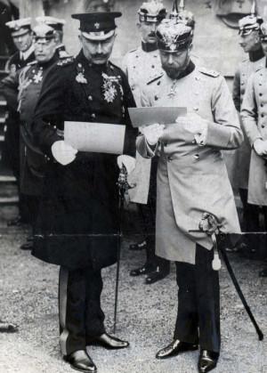 Kaiser Wilhelm II and King George V