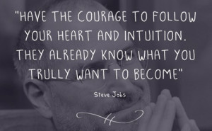 follow your heart and intuition steve jobs picture quote
