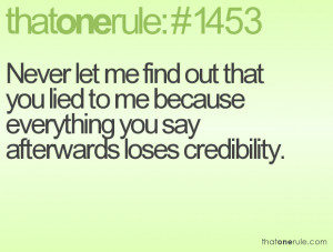 you lied to me quotes