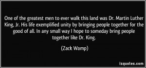 More Zack Wamp Quotes