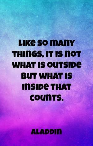 Aladdin quotes, Disney wisdom