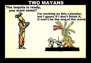 Funny 2012 End of World Doomsday Cartoon Pictures - Two Mayans