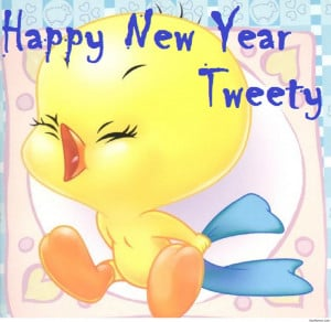 Happy-new-year-tweety-quote-funny-2015 | 3D Wallpapers Best