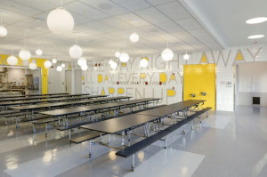 tile mosaic in the school cafeteria.Cafeteria Ideas, Charter Schools ...