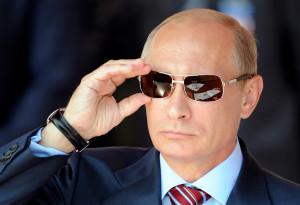 Vladimir Putin wearing Sunglasses