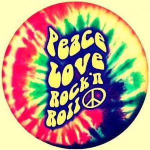 Tie Dye Peace Love Rock'n Roll