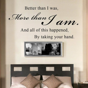 ... Quote Wall Decal Vinyl Sayings Bedroom Decor (Black, Small) -: Wedding