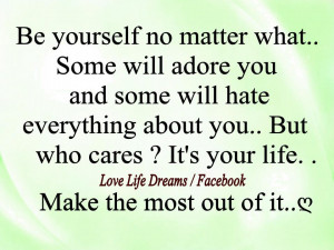 ... No Matter What ~ Design photo quote about love - No matter what you've