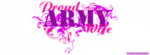 Proud Military Wife Quotes Proud army wife pink