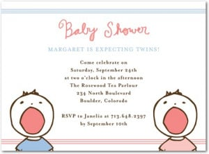 12 TOP Twin Baby Shower Invitations