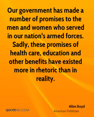 Allen Boyd Health Quotes