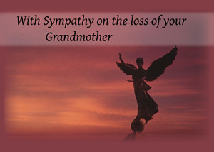 ... specific sympathy 4082 sympathy angel loss of grandmother card id 4082