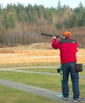 ... trap-shooting practice at Seattle Skeet & Trap Club, near Ravensdale