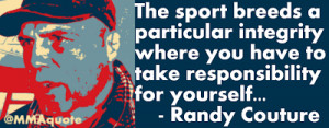 Randy Couture on MMA vs Team Sports
