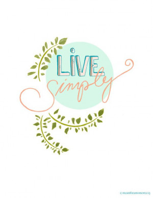LIVE SIMPLY Quote Pastel Sentiment Inspiring Hand by Meant4amoment, $ ...