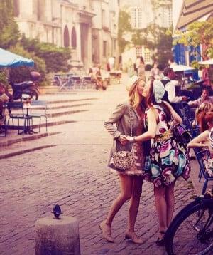 Blair and Serena in Paris
