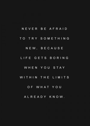 try something new #quote