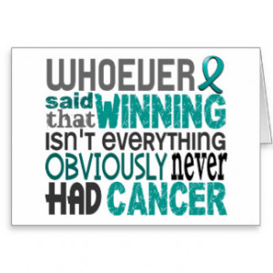 Whoever Said Ovarian Cancer