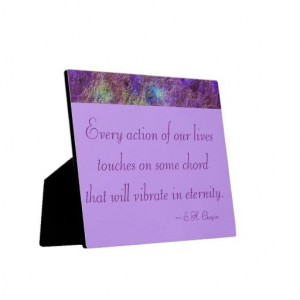 Abstract Purple Inspirational Quote Plaque