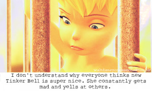 Tinkerbell Quotes Tumblr I hate tinker bell and peter