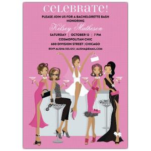 Divas African American Bachelorette Invitations