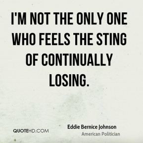 Eddie Bernice Johnson - I'm not the only one who feels the sting of ...
