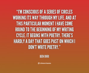 conscious of a series of circles working its way through my life ...