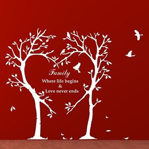 Family-Tree-Wall-Art-Sticker-Inspirational-Love-birds-family-decal ...