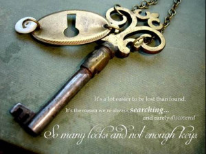 ... dessen quotes # lock and key # keys # vintage keys # lost # alone