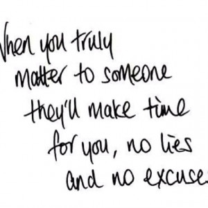 No lies.