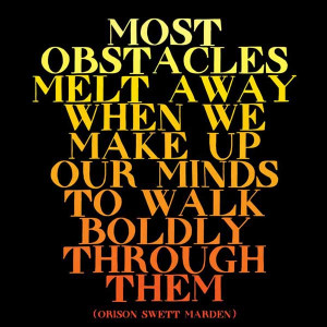Most Obstacles Quotable Magnet