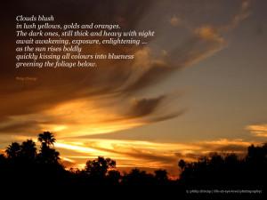 SUNRISE IN PARADISENote : Photo of sunrise in Paradise Valley, Arizona ...