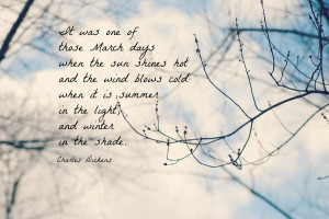 Charles Dickens March Spring quote Art Print