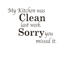 quote wall sticker - kitchen wall art - kitchen clean English ...