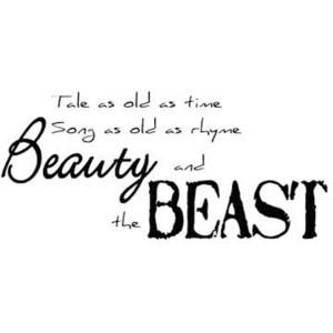 Beauty and the Beast - Freebie wordart - DigiScrapDepot.com