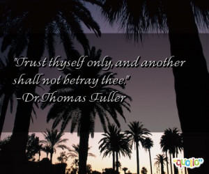Quotes About Betrayal of Trust
